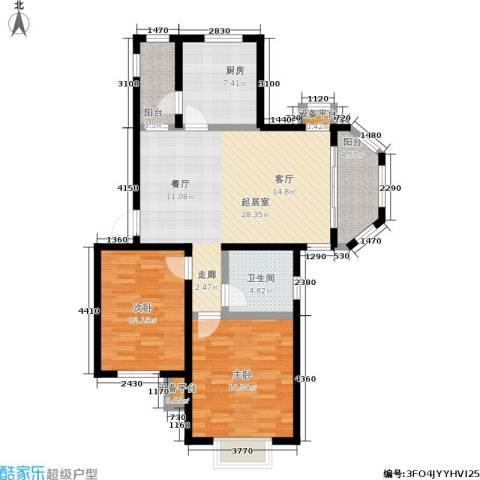 天华硅谷2室0厅1卫1厨88.00㎡户型图