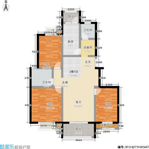 天华硅谷3室0厅2卫1厨114.00㎡户型图