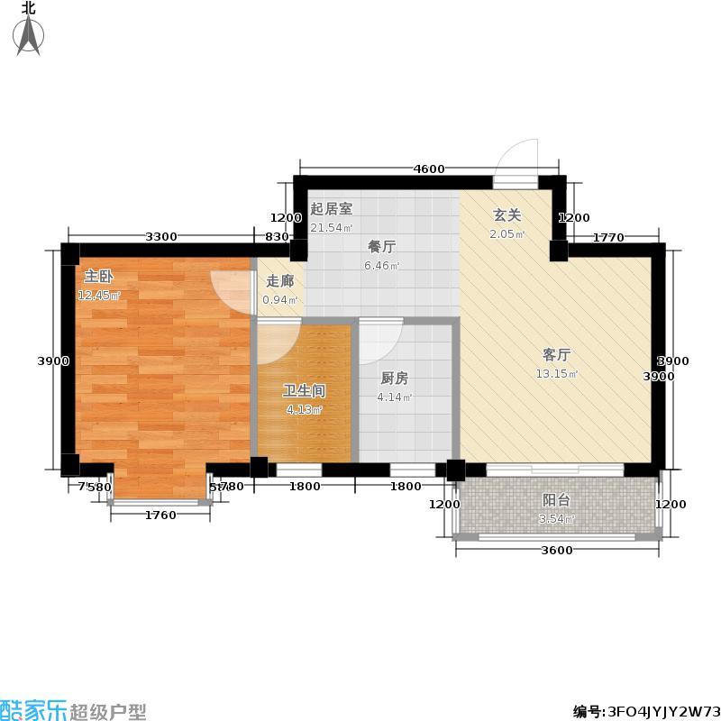 祥鑫天骄城51.84㎡一期3栋C1户型