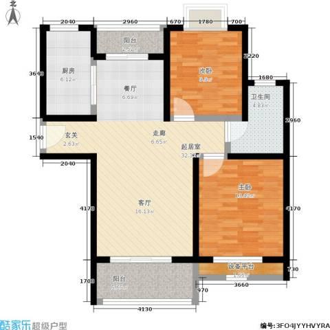 天华硅谷2室0厅1卫1厨89.00㎡户型图