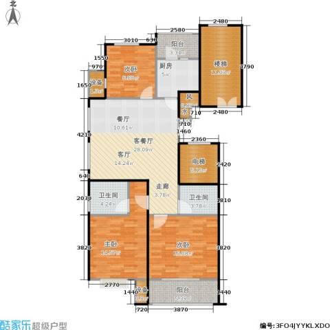 京门府3室1厅2卫1厨117.00㎡户型图