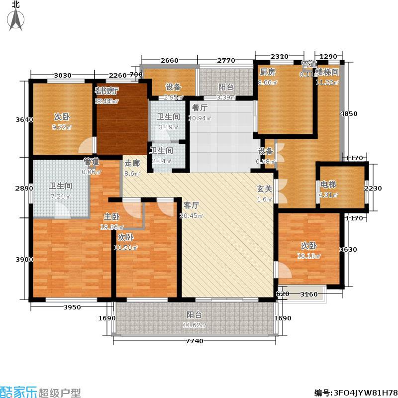 星公元名邸176.00㎡洋房6、7#标准层D2户型