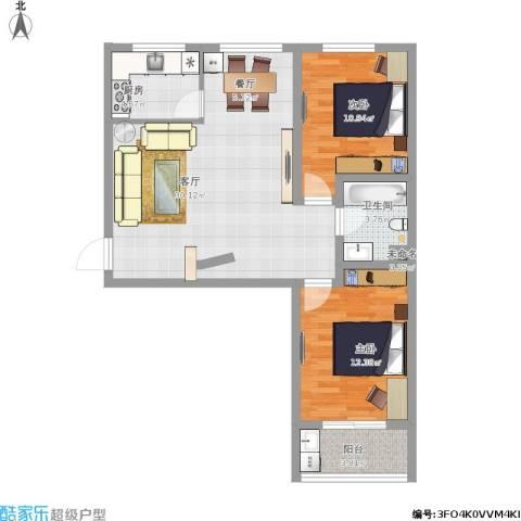 康和苑2室1厅1卫1厨94.00㎡户型图