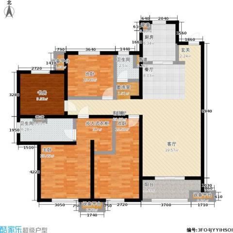 万科城4室1厅2卫1厨143.00㎡户型图