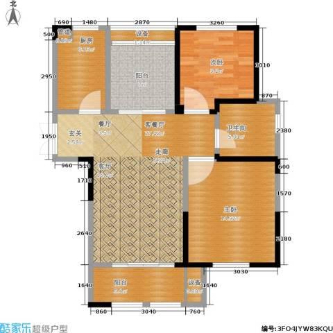 东方维罗纳2室1厅1卫1厨88.00㎡户型图