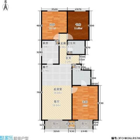顺鑫华玺瀚楟3室0厅2卫1厨126.00㎡户型图