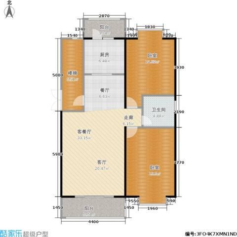 塞纳名邸1厅1卫1厨98.00㎡户型图