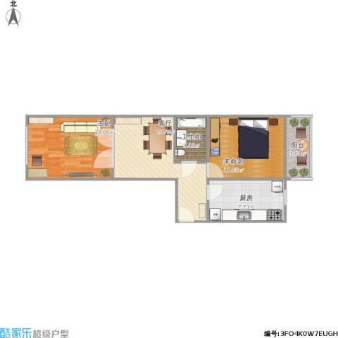 福泽温泉公寓1室1厅1卫1厨72.00㎡户型图