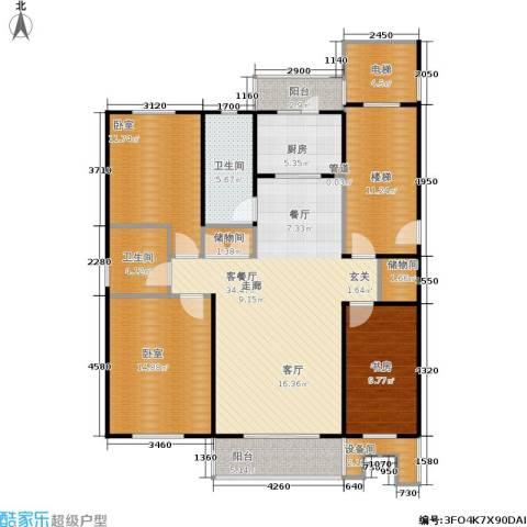 塞纳名邸1室1厅2卫1厨125.00㎡户型图
