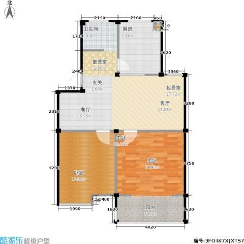 瀛洲湾花园1室0厅0卫1厨73.00㎡户型图