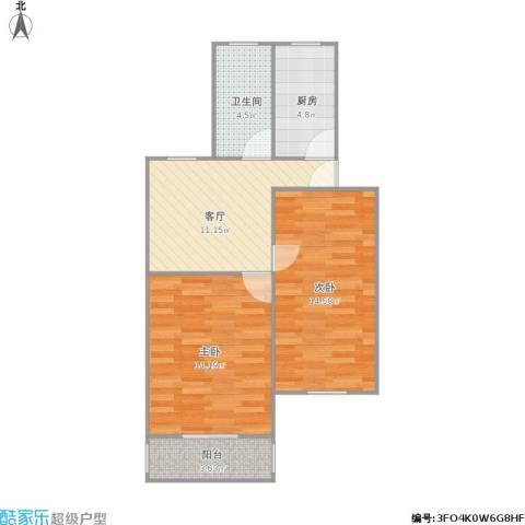 浦三路817弄小区2室1厅1卫1厨71.00㎡户型图