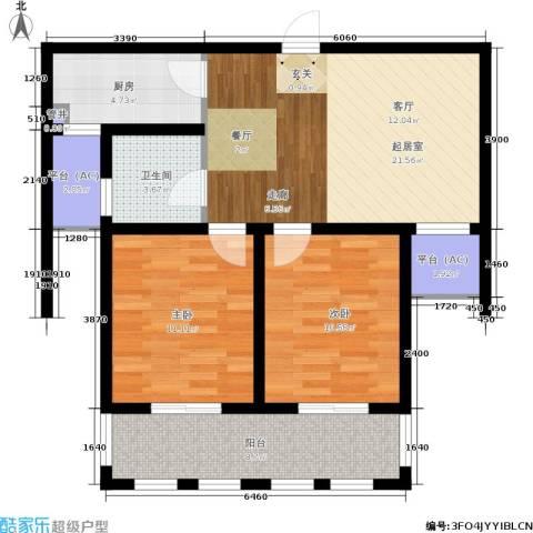 乐居雅花园2室0厅1卫1厨75.00㎡户型图