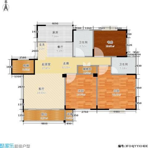 福基九龙新城3室0厅2卫1厨121.00㎡户型图