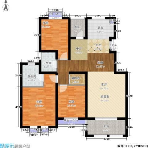乐居雅花园3室0厅2卫0厨119.00㎡户型图