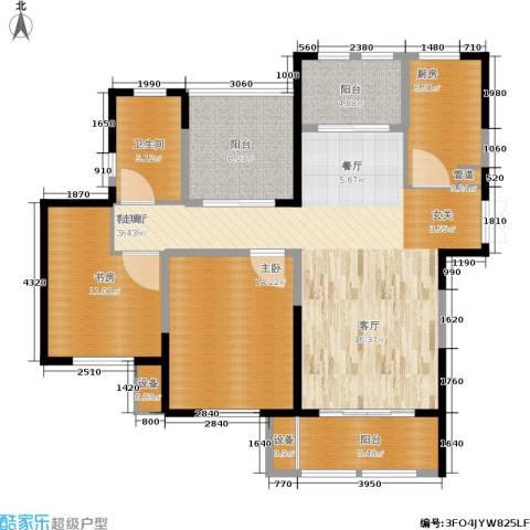 东方维罗纳2室1厅1卫1厨104.00㎡户型图