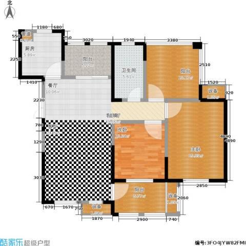 东方维罗纳2室1厅1卫1厨108.00㎡户型图