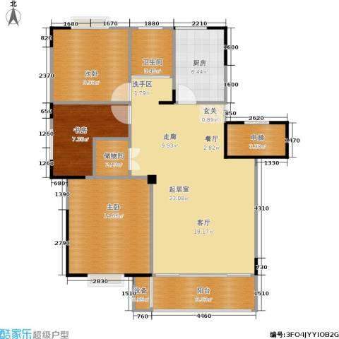 福基九龙新城3室0厅1卫1厨101.00㎡户型图