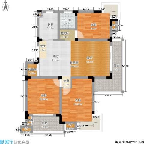 和园3室0厅1卫1厨109.00㎡户型图