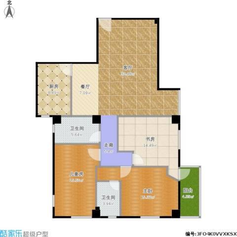 购物中心3室1厅2卫1厨154.00㎡户型图
