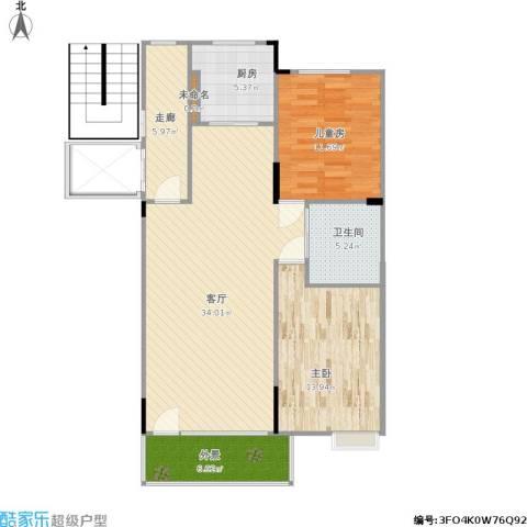 嘉惠第五园2室1厅1卫1厨111.00㎡户型图