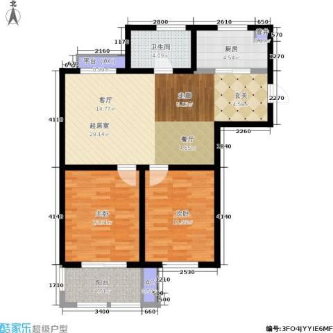 乐居雅花园2室0厅1卫1厨79.00㎡户型图