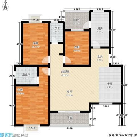 万达大湖公馆3室0厅2卫1厨149.00㎡户型图
