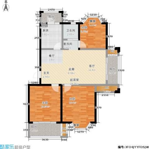 凯阳花园3室0厅1卫1厨101.00㎡户型图