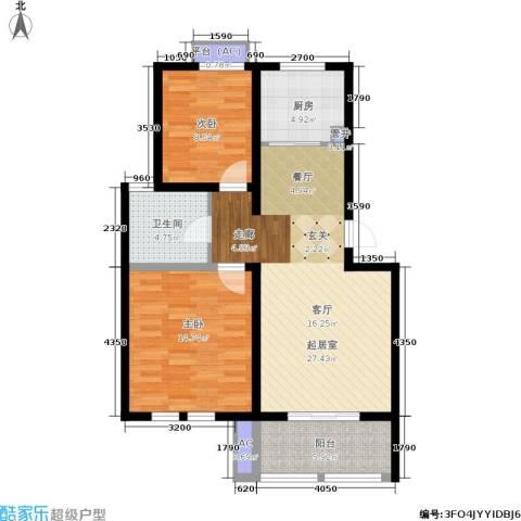 乐居雅花园2室0厅1卫1厨78.53㎡户型图