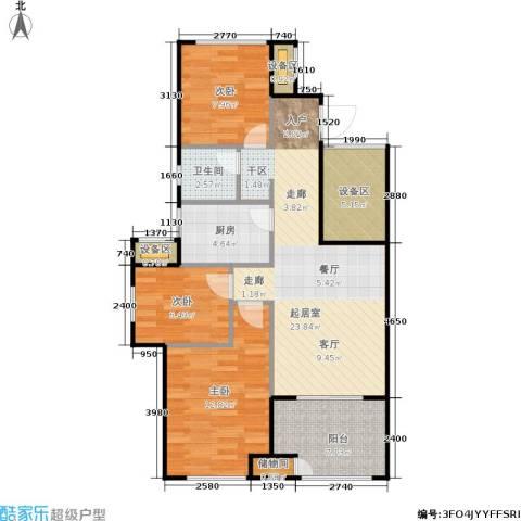 新城香溢紫郡3室0厅1卫1厨80.00㎡户型图