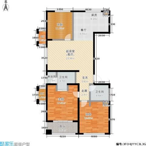 协众水岸风华3室0厅2卫0厨123.00㎡户型图
