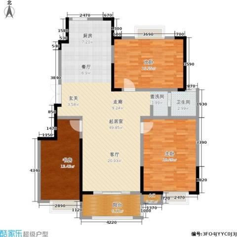 爱涛天岳城3室0厅1卫0厨118.00㎡户型图