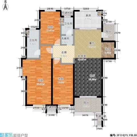 万科高新华府3室0厅2卫1厨138.00㎡户型图