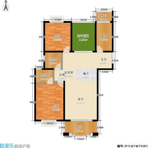 瑞景国际2室0厅2卫1厨124.00㎡户型图