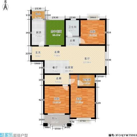 瑞景国际3室0厅2卫1厨143.00㎡户型图