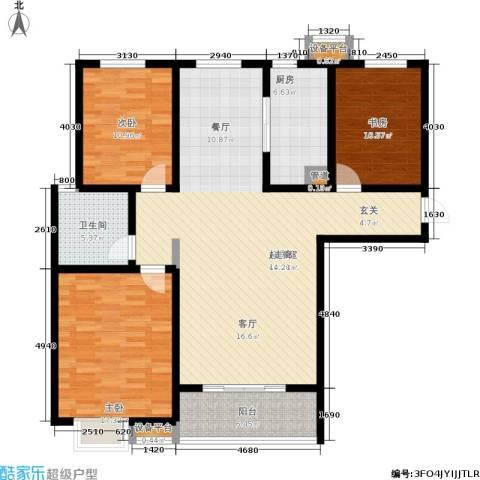 坤宇凯旋城3室0厅1卫1厨120.00㎡户型图