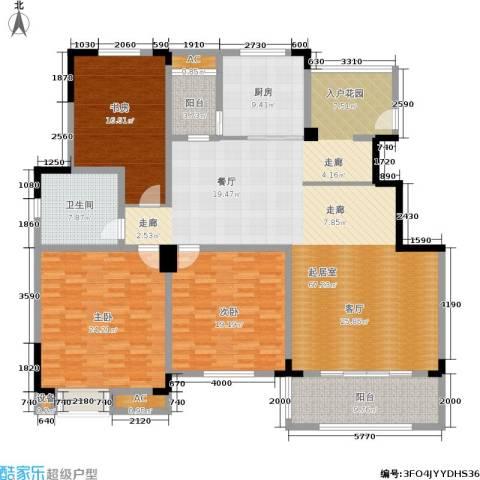 清香雅苑3室0厅1卫1厨191.00㎡户型图