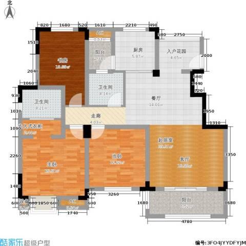 清香雅苑3室0厅2卫1厨131.00㎡户型图