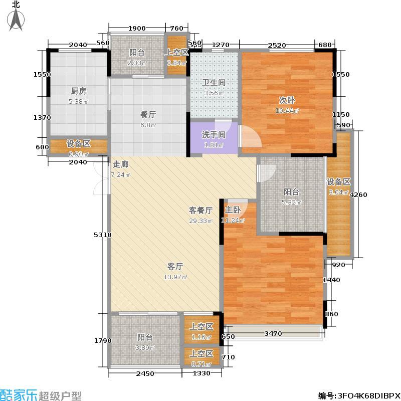 浙建枫华紫园H1户型2室1厅1卫1厨