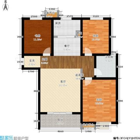 坤宇凯旋城3室0厅1卫1厨110.00㎡户型图
