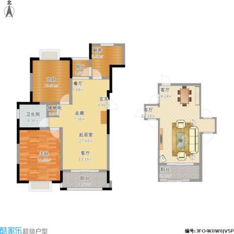 合景・瑜翠园2室1厅1卫1厨139.00㎡户型图