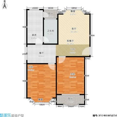 富仕名邸2室1厅1卫1厨112.00㎡户型图