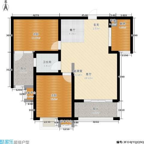 坤宇凯旋城2室0厅1卫1厨87.00㎡户型图