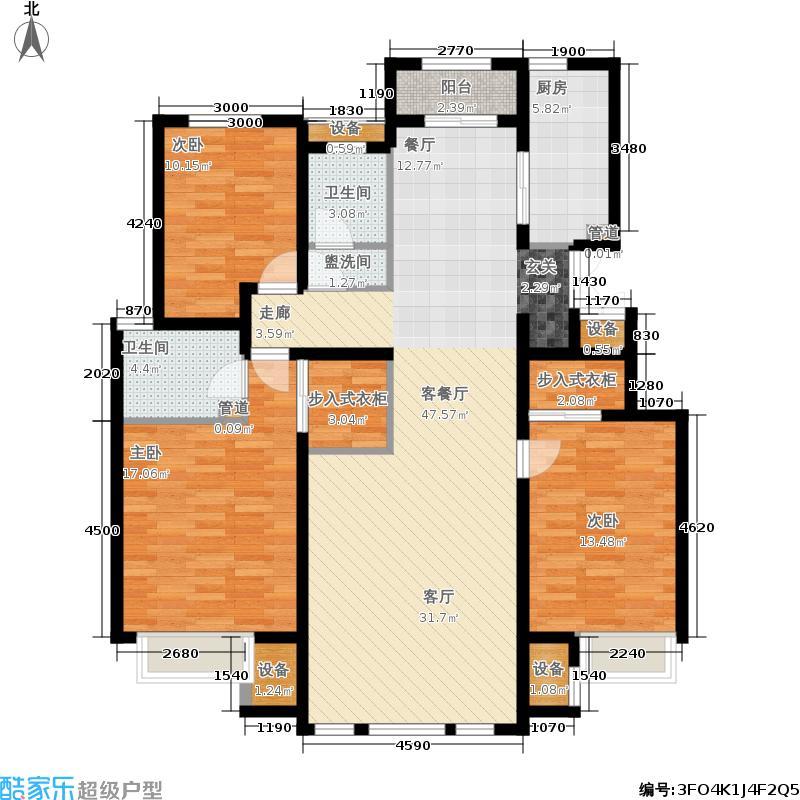阳光波士顿145.00㎡洋房Y3户型3室2厅