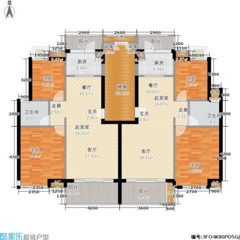 百合嘉园4室0厅2卫2厨155.63㎡户型图