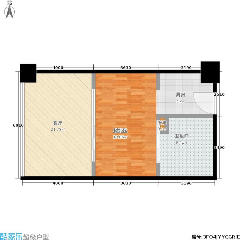 LAVITA长江会65.00㎡一期1幢标准层1B户型