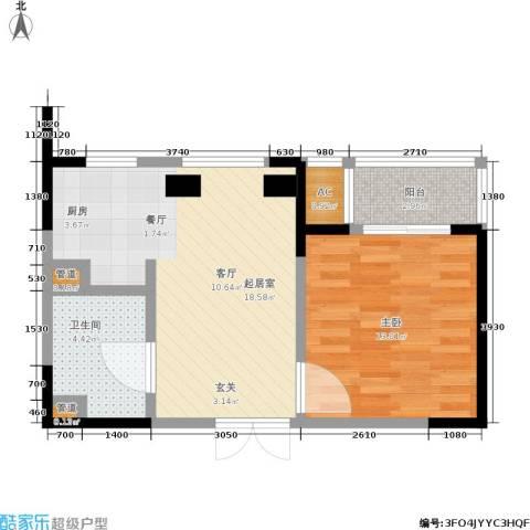 协众水岸风华1室0厅1卫0厨47.00㎡户型图