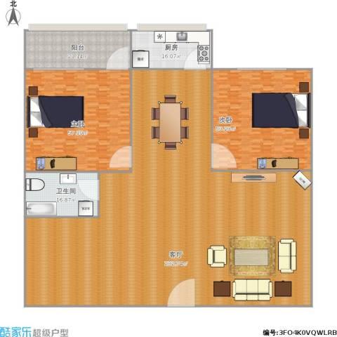 华能路地勘局宿舍2室1厅1卫1厨511.00㎡户型图