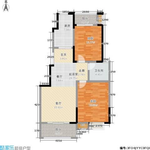 爱涛天岳城2室0厅1卫1厨89.00㎡户型图