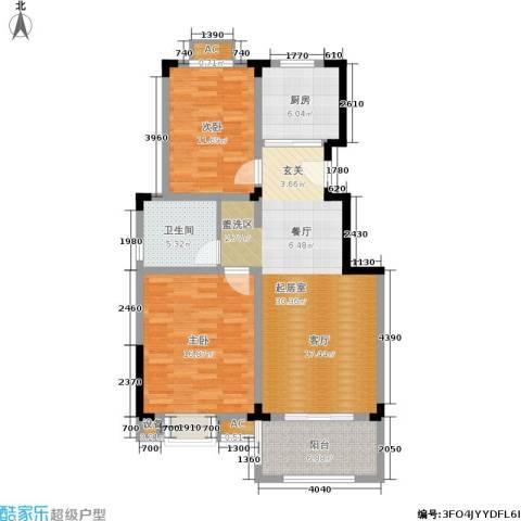 清香雅苑2室0厅1卫1厨92.00㎡户型图
