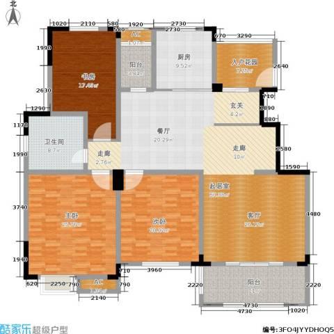 清香雅苑3室0厅1卫1厨198.00㎡户型图